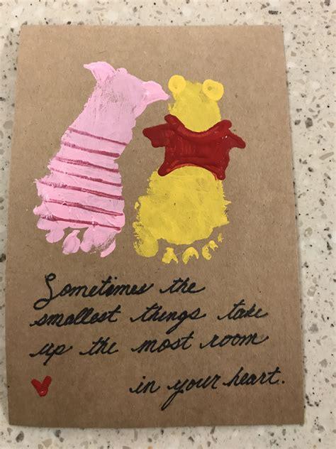 footprint art winnie  pooh gift  baby