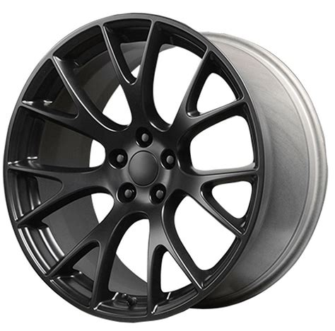 Replica Wheels by 22 Staggeredx9 5 Inch Hellcat Replica Wheels Satin Black