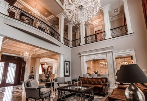 magnificent quebec castle  mansion family room luxury home decor french style
