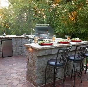 Grill Für Outdoor Küche : outdoor k che mit grill ausgestattet ~ Sanjose-hotels-ca.com Haus und Dekorationen