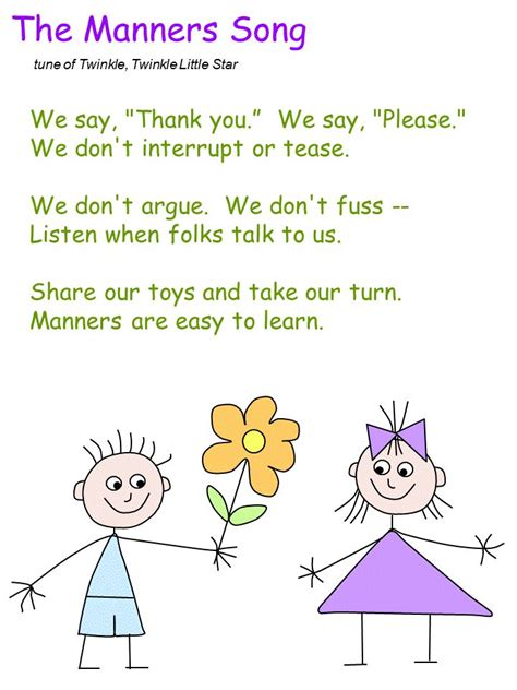 Template  Toddlers Lesson Plan  Pinterest  Template, Manners And Songs