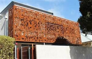 Sichtschutz Modern Design : garten moy cortenstahl sichtschutz fuer garten ndash 30 ideen und beispiele ~ A.2002-acura-tl-radio.info Haus und Dekorationen