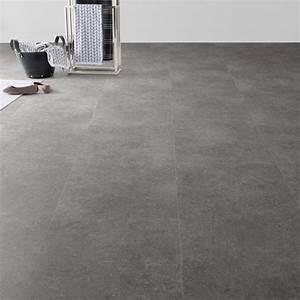 Dalle Pvc Imitation Carreaux De Ciment : dalle pvc clipsable gris m tal effet b ton clic moods ~ Dailycaller-alerts.com Idées de Décoration