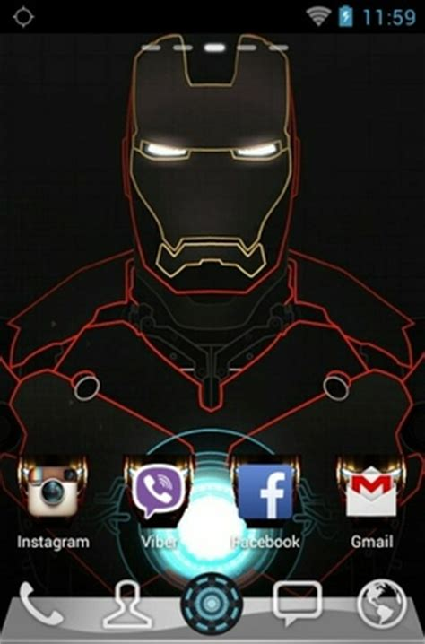Iron Man Android Theme For Go Launcher Androidlookscom