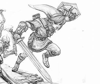 Coloring Pages Zelda Link Legend Skill Printable