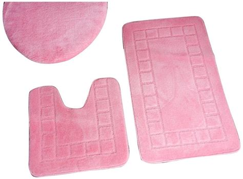 Pink Bathroom Rug Set by Checkered 3 Bathroom Shower Rug Set Bath Mat