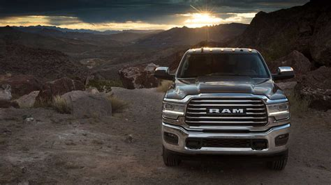 ram hd laramie longhorn features real wood leather