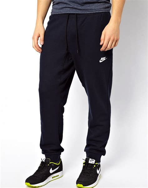 cuffed sweatpants for nike nike aw77 cuffed sweatpants at asos
