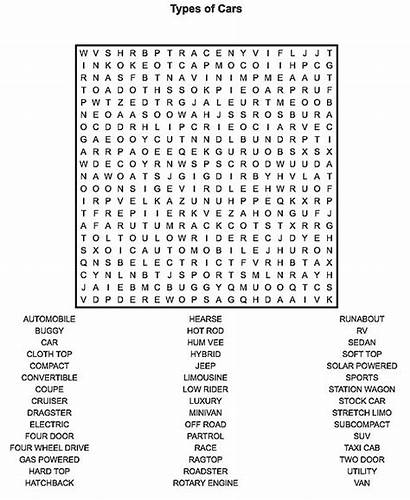 Word Printable Adults Games Teens Cars Pages