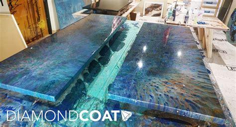 custom ocean epoxy countertops  moab restaurant