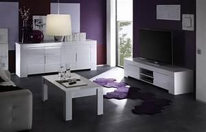 Meuble Tv Tendance : meuble tv design blanc laque elios zd2 m tv d ~ Premium-room.com Idées de Décoration