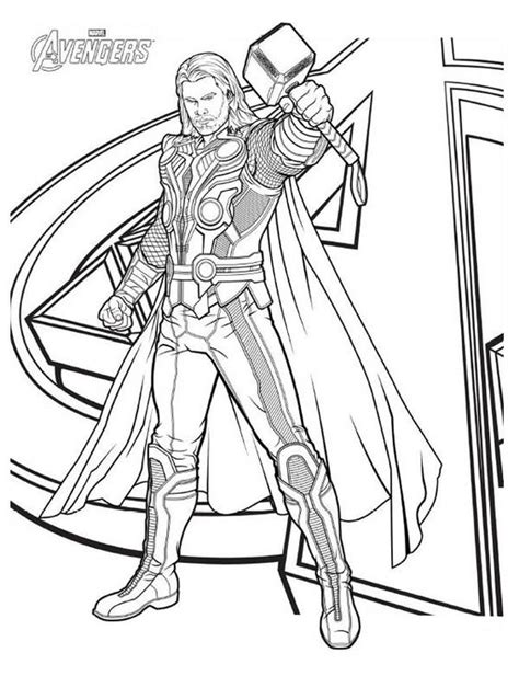 thor coloring pages to print the avengers avengers