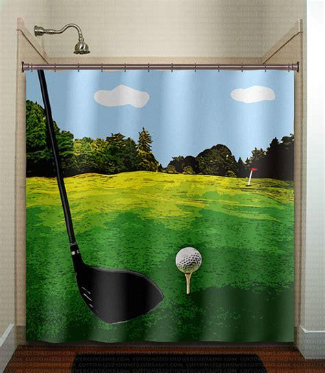 golfer golfing green putt club golf shower by