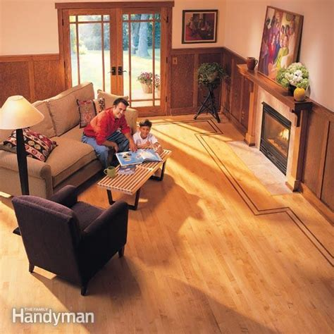 How to Lay Hardwood Floor with Contrasting Border   Family