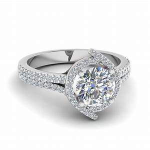 white gold round white diamond engagement wedding ring red With round diamond wedding ring