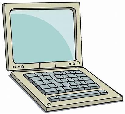Computer Laptop Clip Clipart Cliparts Cartoon Transparent