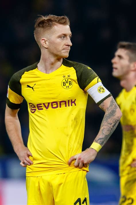 Marco Reus of Borussia Dortmund looks on during the ...