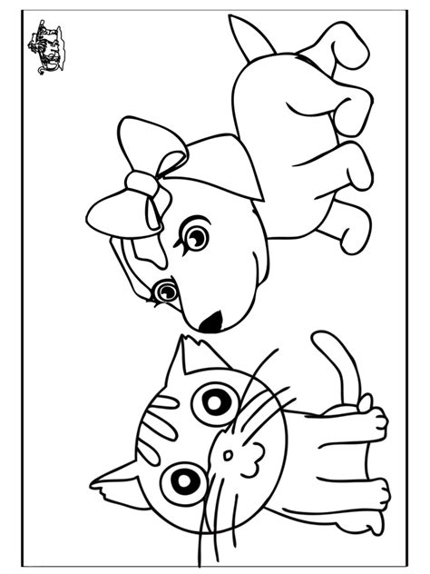 dog  cat coloring pages  coloring pages