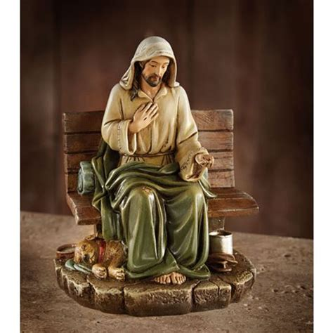 home interior jesus figurines homeless jesus figurine no place to rest catholic