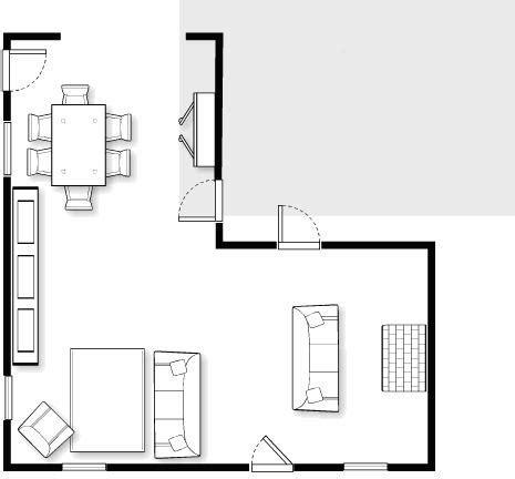 Lshaped Living  Dining Room Design Problem