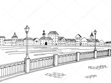 cidade rio arte grafica preto branco desenho paisagem