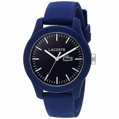 Lacoste Rubber Strap Steel Stainless Dark Watches