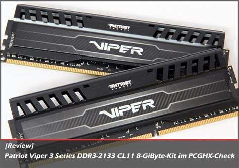 [review] Patriot Viper 3 Series Ddr32133 Cl11 8gibyte
