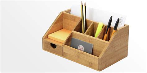 desk with drawer stationery organiser letter holder bamboo desk organiser
