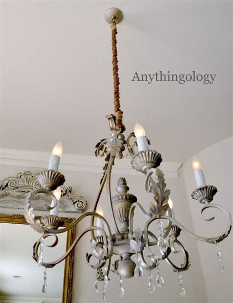 diy rope chandelier cord cover shes crafty