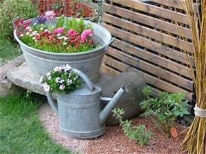 deco jardin bassine zinc With affiche chambre bébé avec pot de fleur exterieur bois