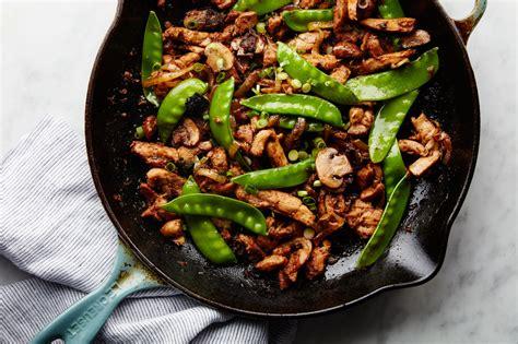stir fried chicken  black beans recipe epicurious