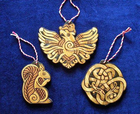 cedar yule ornaments nidhogg ratatosk  eagle holidays