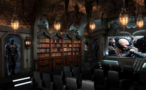 home theater design  batman themed decor