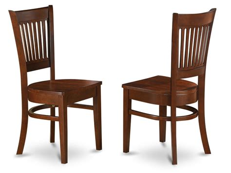 Kitchen Chairs by Set Of 2 Vancouver Dinette Kitchen Dining Chairs W Plain