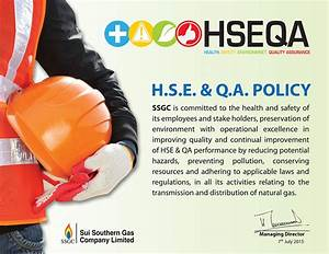 Health  Safety  Environment  And Quality Assurance Policy