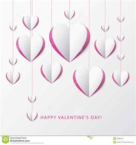 valentines card template s day greeting card with paper template for des royalty free stock photography