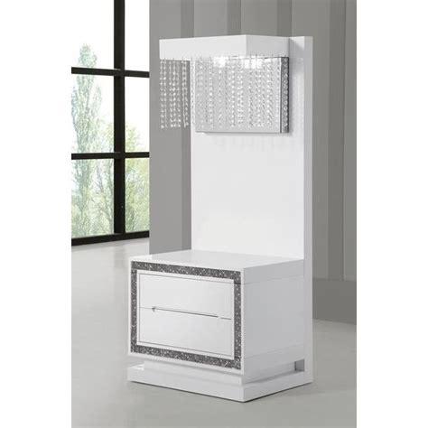 table de chevet design laque blanc haute brillance achat vente chevet table chevet panneaux