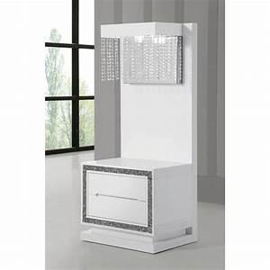 Table De Chevet Design : table de chevet design laque blanc haute brillance achat vente chevet table chevet panneaux ~ Teatrodelosmanantiales.com Idées de Décoration
