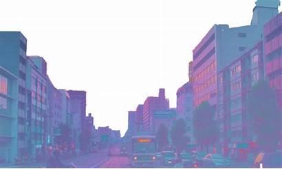 Aesthetic Skyline Vaporwave Purple Japan Freetoedit Building