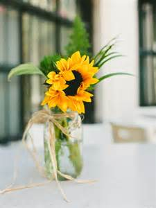 wedding venues in fort lauderdale a simple sunflower centerpiece photo by nami dadlani