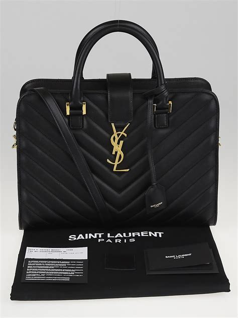 saint laurent black matelasse quilted leather small