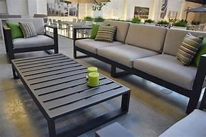 Canapé De Jardin : canap de jardin 3 places en alu azuro ~ Teatrodelosmanantiales.com Idées de Décoration