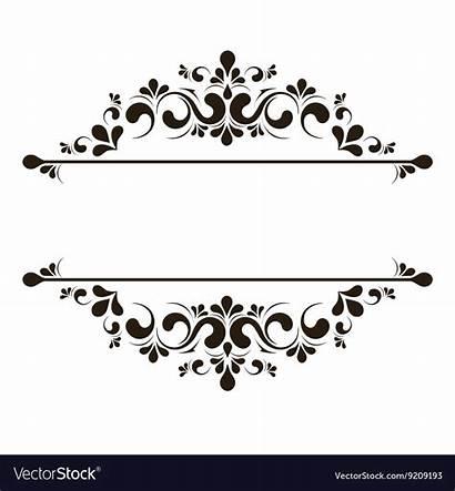 Elegant Frame Border Vector Banner Floral Clipart