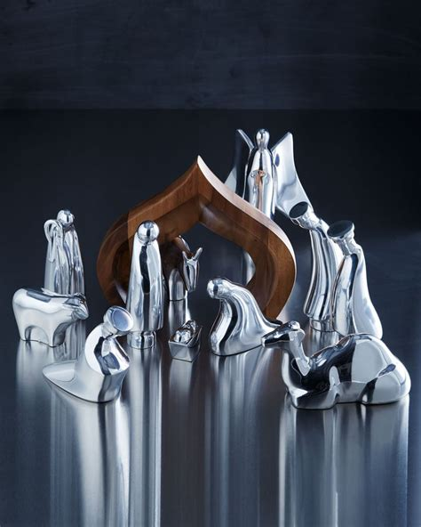 nambe silver tone nativity christmas is coming pinterest