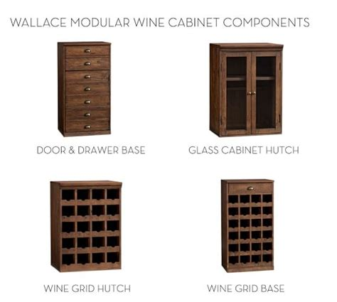 pottery barn wine cabinet build your own wallace reclaimed wood modular cabinets