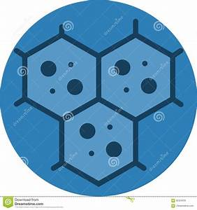 Multicellular Cell Structure Icon  Stock Illustration