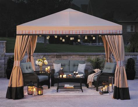 walmart patio gazebo canopy hometrends 10 x 10 valence gazebo walmart outdoor