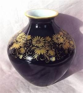 Echt Kobalt Vase : vintage echt c m hutschenreuther germany kobalt blue gold ~ Michelbontemps.com Haus und Dekorationen