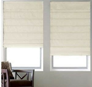New With Defects Cotton Duck Thermal Roman Shadeblind