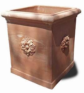 Pflanzkübel Terracotta Eckig : term hlen terracotta impruneta quadratischer hoher terracotta kasten ~ Orissabook.com Haus und Dekorationen